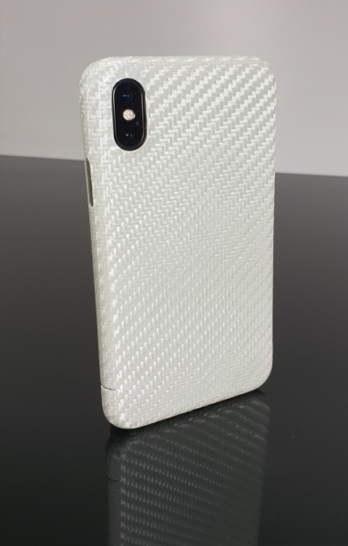 Carbon Cover Apple iPhone X in perlmutt-weiss