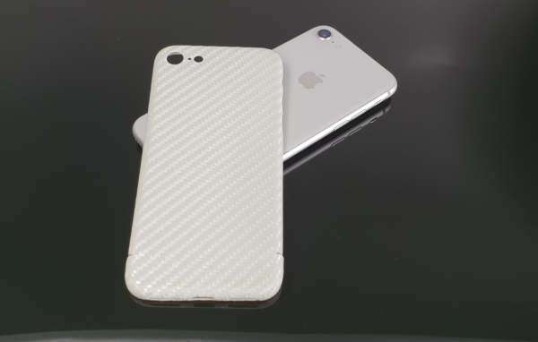 Carbon Cover Apple iPhone 8/8 Plus in perlmutt-weiss
